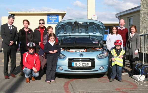 Electric Car Visits Lorrha.